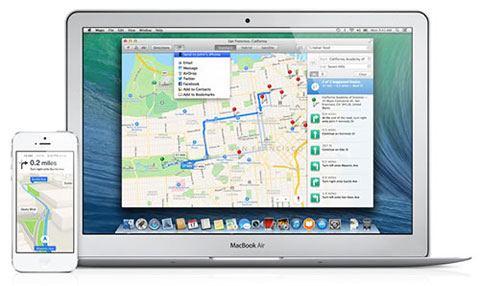 Mavericks Apple Maps