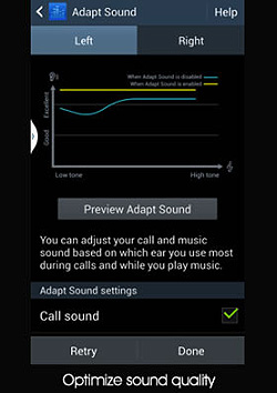 Samsung Adapt Sound feature