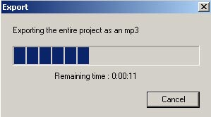 Export modified Audacity file as mp3