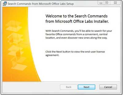 Install Search Commands in Word 2007
