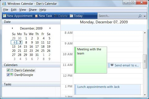 Google Calender integrated with Windows Calender