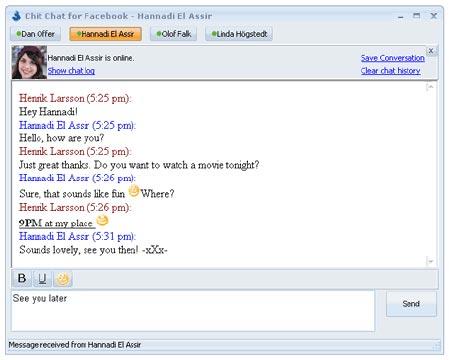 Facebook chat client