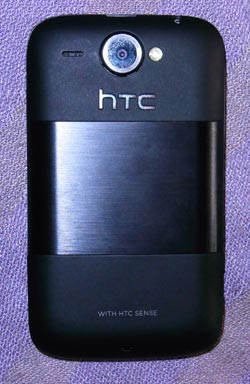 HTC Wildfire back view