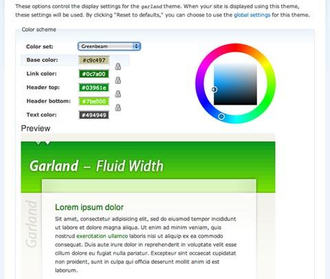 Drupal color scheme