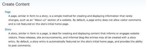 Drupal pages