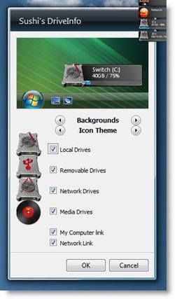 Windows 7 DriveInfo gadget