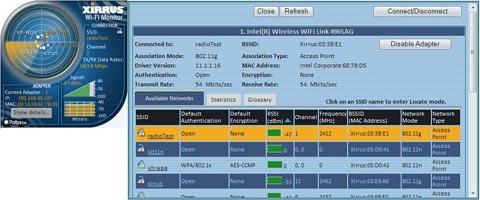 Windows 7 Xirrus WiFi Monitor