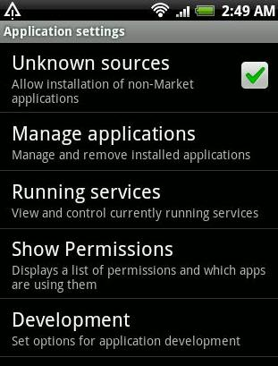Android download permissions