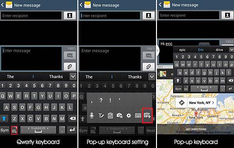 Samsung S4 pop up keyboard